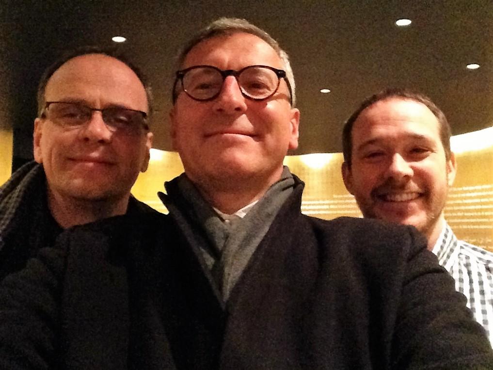 Mit den Kollegen in der Kapelle des Olympiastadions Berlin