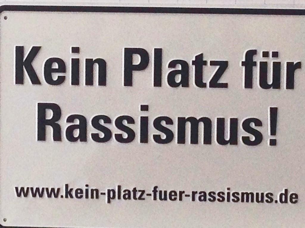 Kein Platz für Rassismus © Bernhard Felmberg