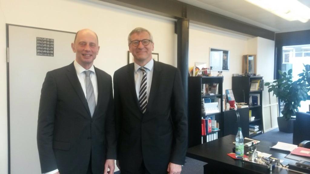 Besuch beim thüringischen Wirtschafts- und Wissenschaftsminister Wolfgang Tiefensee