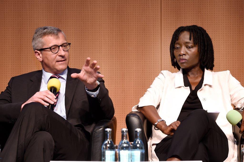 Deutscher Stiftungstag in Leipzig, am 12.5.2016, mit Dr. Auma Obama