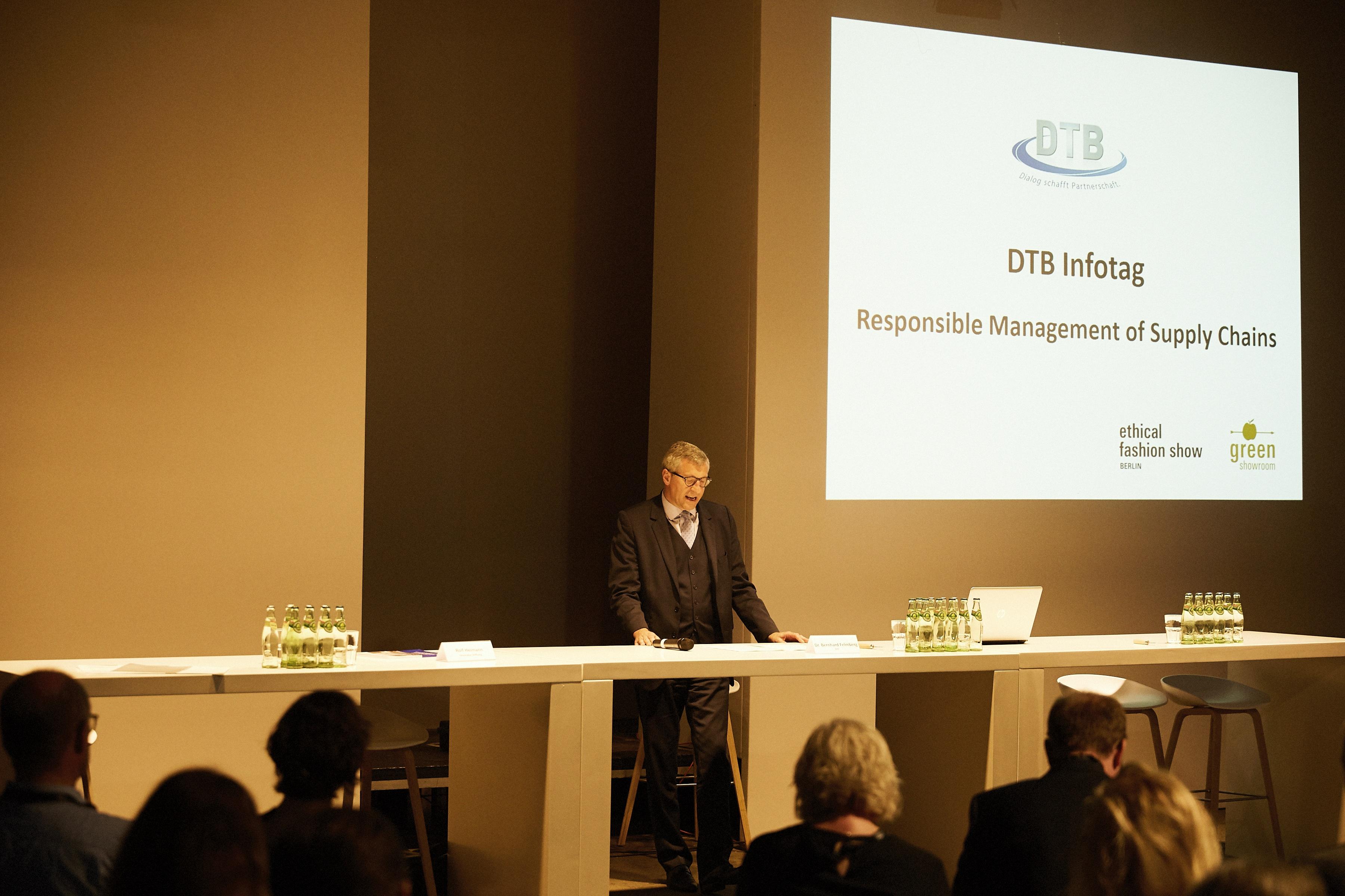 Ministerialdirigent Dr. Bernhard Felmberg auf der Ethical Fashion Show 2016 2.0 in Berlin